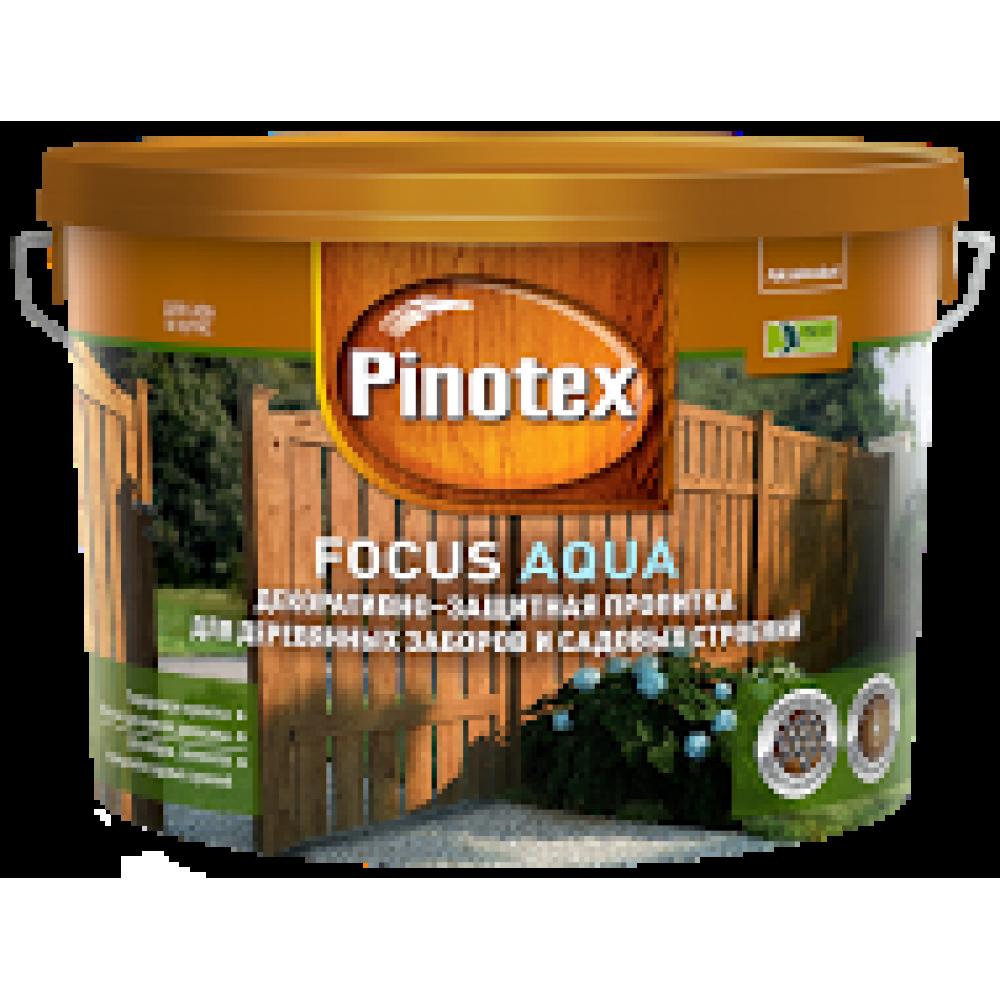 Pinotex Focus Aqua / Пинотекс Фокус Аква пропитка для защиты древесины